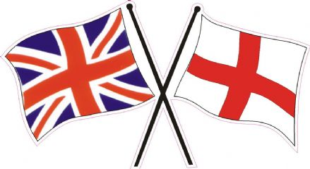 "England ""Flags"" Car Bumper Sticker"